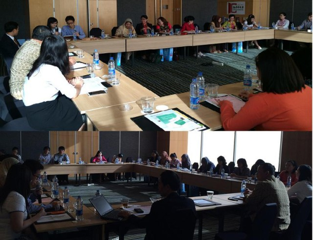 雅加达地区各个学校代表员进行交流研讨会