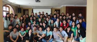 老师们与学生们合影 Foto bersama dosen dan alumni