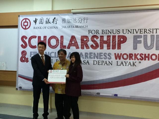 Yenny获得中国银行奖学金