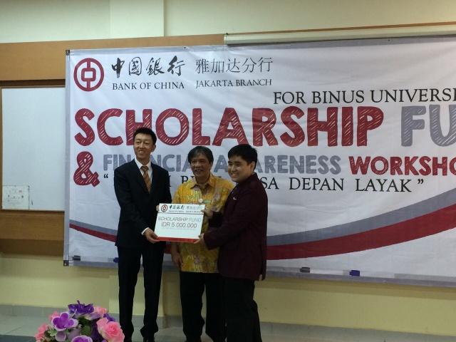 Suwandi获得中国银行奖学金