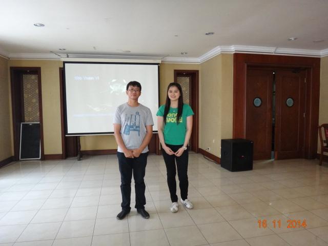 Ketua Alumni (Marini) dan Wakil Ketua Alumni (Andika)