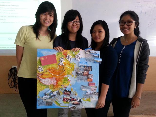 Angel,Fiona, Fina, Raisa 一组介绍中国一些旅游景点