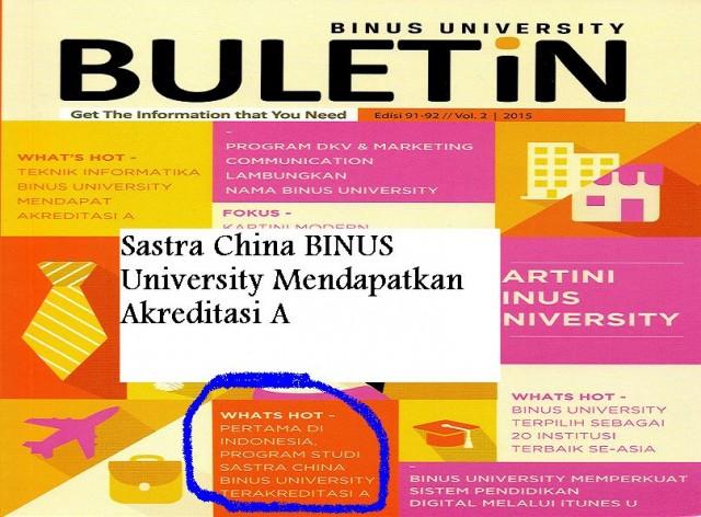 Cover Buletin Sastra China