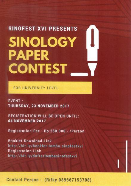 Ikutilah Lomba Sinofest XVI Universitas Indonesia