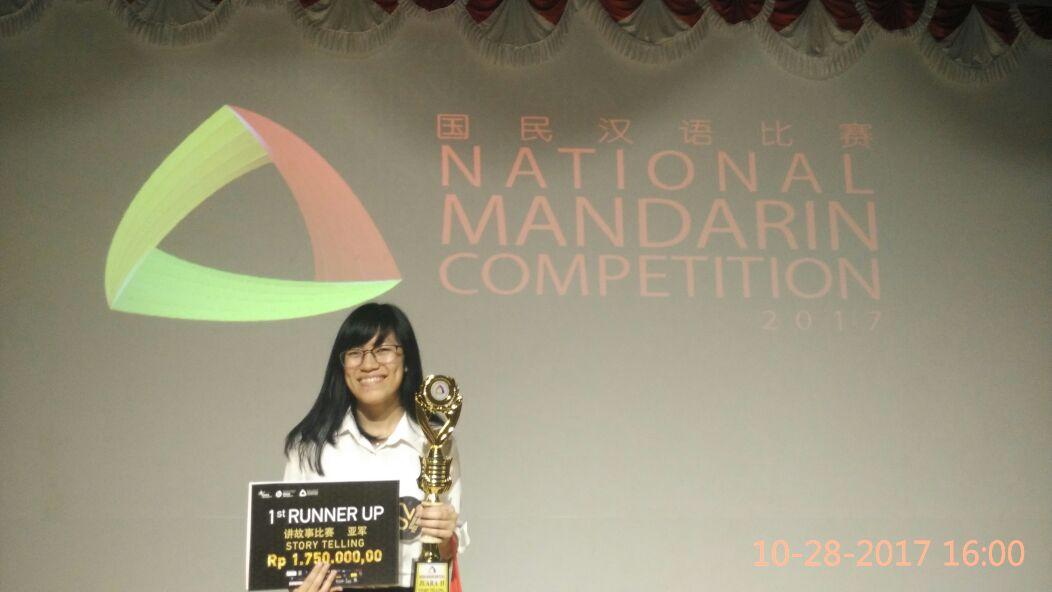 Mahasiswi Sastra China Juara 2 Lomba Story Telling Mandarin