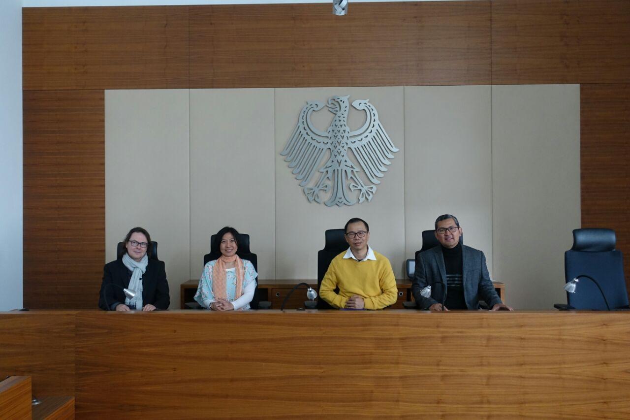 Diskusi Kekayaan Intelektual di Bundes Patent Gericht, Munich, Jerman dalam rangka penyusunan Modul Hukum Bisnis dan Hubungan Internasional Taiwan Studies Project